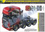 """Плакат """"Загальна компоновка вантажного автомобіля (тягача 8х4) Сканія"""""""