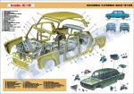 "Плакат ""Будова кузова ВАЗ-2106"""