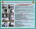 """Плакат """"Заходи безпеки при виконанні господарських робіт"""" код 4530202"""