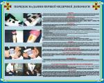 """Плакат """"Порядок надання першої медичної допомоги"""" код 4530206"""