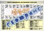 """Плакат """"Карта змащення автомобіля УРАЛ-4320"""""""