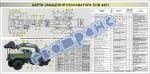 """Плакат """"Карта змащення екскаватора ЕОВ 4421"""" 453030309"""