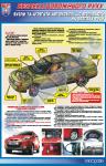 """Плакат """"Вузли та агрегати, що впливають на безпеку руху (для легкового автомобіля)"""