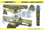 """Плакат """"Передня і задня підвіски ЗІЛ-130"""" (код 4515507)"""