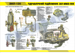 """Плакат """"Гідравлічний підйомник ЗІЛ-ММЗ-555"""" (код 4515509)"""