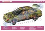 """Плакат """"Компоновка автомобіля ВАЗ-2110"""""""