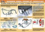 Плакат «Будова рами мотоцикла, рами і кузова бокового причепа» (код 4510509)