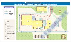 Схема руху автотранспорту по території підприємства (приклад 3)